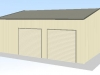 7x9x3-triple-garage-two-roller-doors-shed-price-guide-3d
