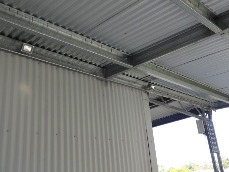 solar powered shed lighting solution for sheds garages steel sheds. Black Bedroom Furniture Sets. Home Design Ideas