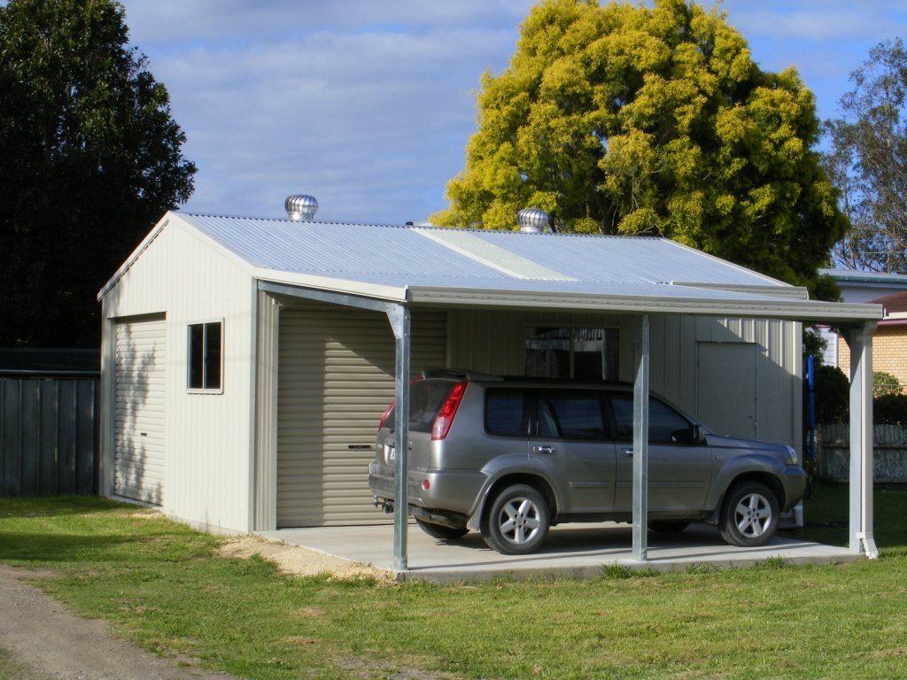 Shed with awning