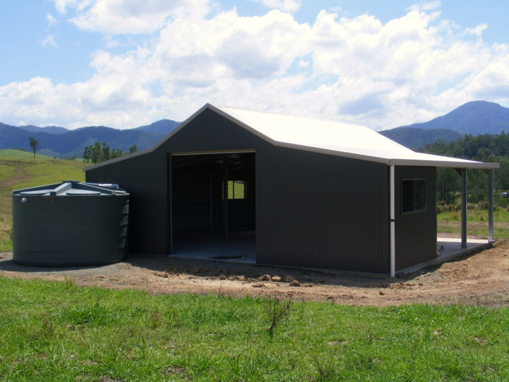 The aussie barn option steel sheds in australia for Sheds and barns