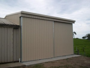 extending an extisting shed with sliding doors