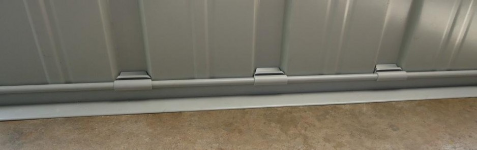 Retroseal Superseal strip and tabs positioned on wall sheeting