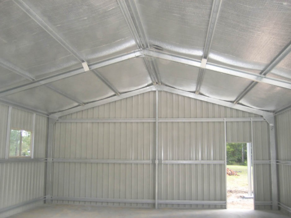 Air Cell Insulation In Shed Install Buy 13 Steel Sheds