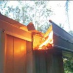 roofseal seal roof shed bushfire embers protect guard leaf gutter