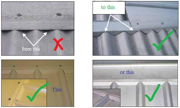 Corrugated Roof Seal Amp Corrugated Metal Roof Ridge Flashing