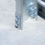 Cast in slab strap footings bracket