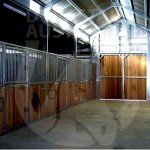 American barn horse stables breezeway stable panels setup