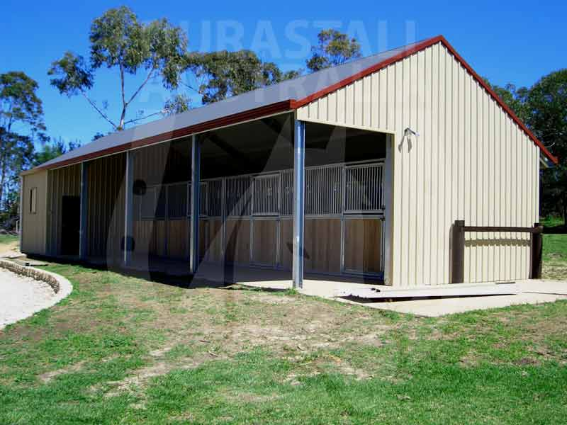 Durastall stables horse stable panels equine for Open front shed