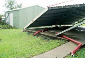 Cyclone-larry-damaged-shed