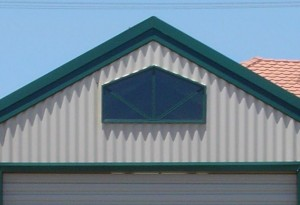 Garage with 30 deg roof and 22.5 deg window