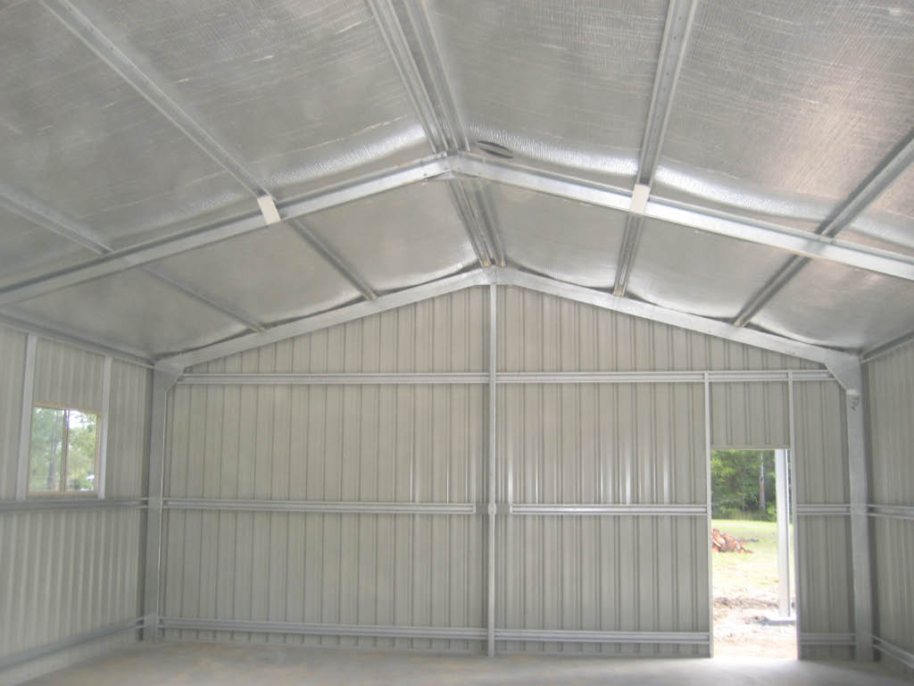metal shed insulation on metal home house plans