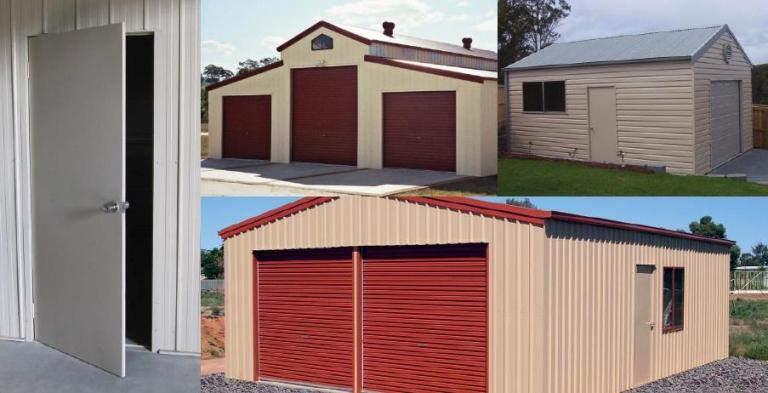 buy larnec 650 steel shed PA doors