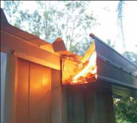 Non Combustible Ember Guard Steel Flashings Bal Level