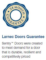 Larnec doors guarantee logo