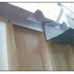 roofseal fitted with gutter and clip BAL flashing