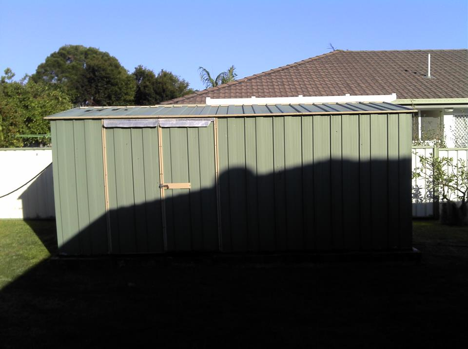 Very Strong Garden Shed Golf Cart Shed Before Image