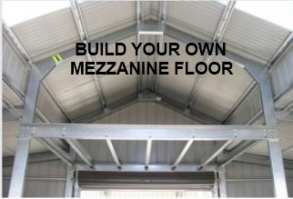 Build own mezzanine floor in barn steel sheds in australia for How to build a mezzanine floor in a garage