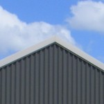 barge flashing on a Ranbuild aussie barn shed  custom orb sheeting