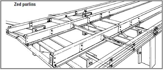 lysaght zed z purlin girts sample roof layout | Steel Sheds