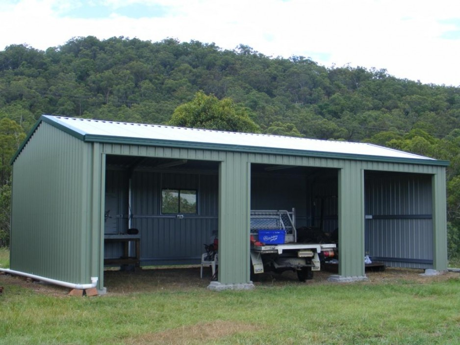 3 car garage or a shed steel sheds in australia for Two car garage shed