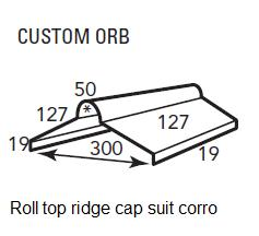 buy lysaght roll top ridge capping flashing ridge cap