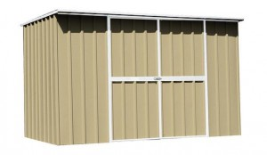 Flat Roof Garden shed with Optional Double doors. EasyShed Durabuilt buy online