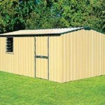 medium large truss roof gable garden shed easyshed buy