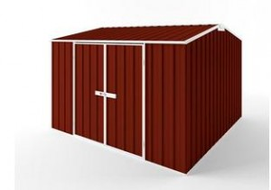 Gable Roof Durabuilt EasyShed Garden Shed in Heritage Red - buy online at Shedblog