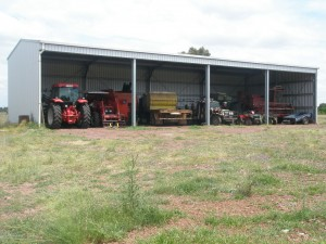 farm shed steel 4 bay from Dinky Di sheds