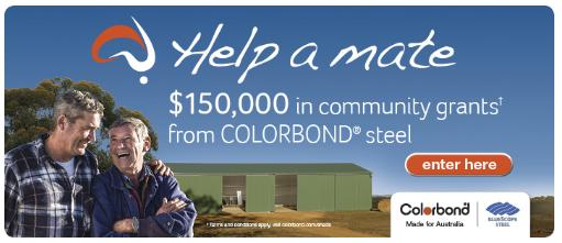 help a mate bluescope steel colorbond community grants