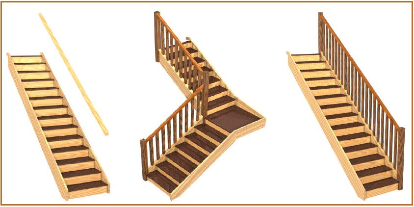 sample styles of shed stairs