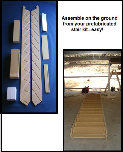 stairs for sheds kit prefabricated kit form