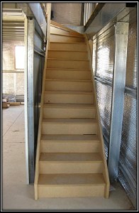 Your shed stair solution stairs for mezzanine floors for How to build a mezzanine floor in a garage