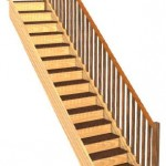 straight stairs with balustrade for sheds homes