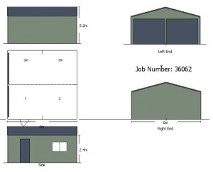 6x6x2.4-double-garage-2-roller-doors-shed-price-guide