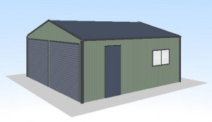 6x6x2.4-double-garage-2-roller-doors-shed-price-guide-3d
