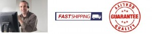 service shipping and quality guarantee banner