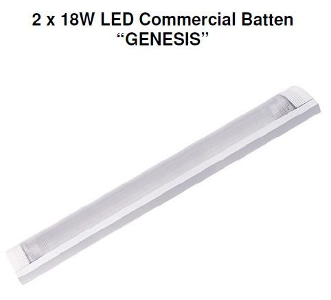 genesis LED batten twin tube lamp buy online