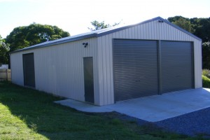 Double Garage Workshop Shed