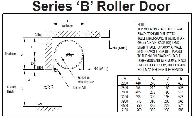 roller door installation instructions series b industrial size doors
