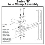 series B Axle clamp assembly roller door installation drawing