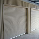 two taurean roller doors under shed awning - buy wondlock roller doors online wind locked