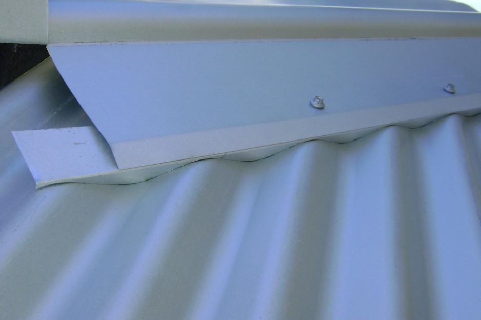 Hip Seal Metal Profile Flashing designed to suit your Roof Pitch ember seal AS bushfire