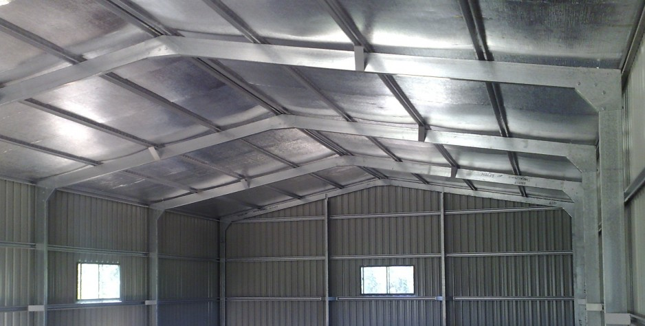 10x 18 nsw Shed Insushed 50 air-cell Insulation in roof