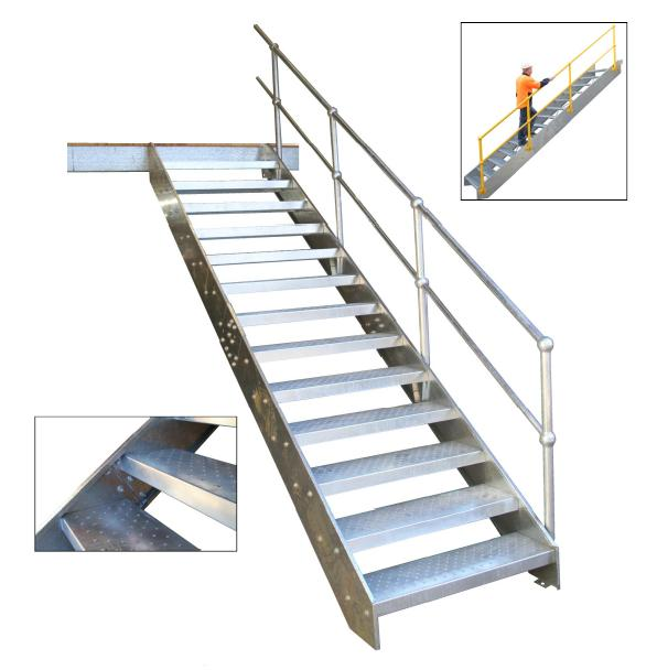 Stair Light Detail: Steel Stairs For Sheds, Workshops, Factory Mezzanine