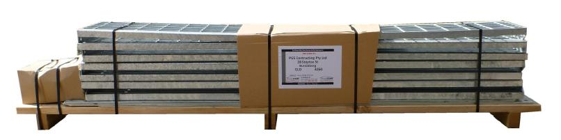 example steel stairs kit consolidated for transport