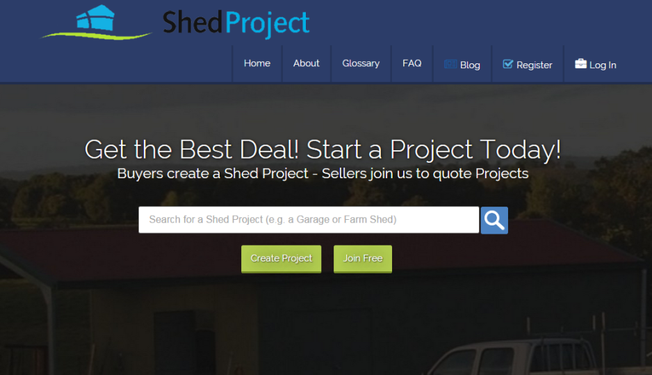 shedproject.com.au website designed to get you multiple quotes for your new shed.