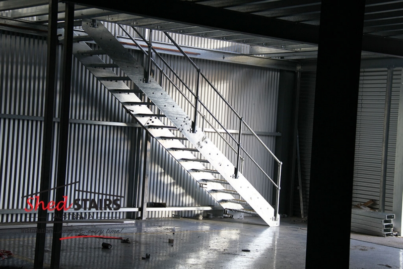 Gal-Stair Heavy Steel Staircase Kits for the Shed Industry