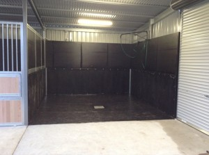 champion stables horse wash bay