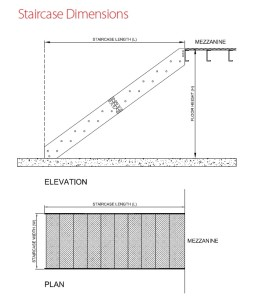 staircase dimensions drawing